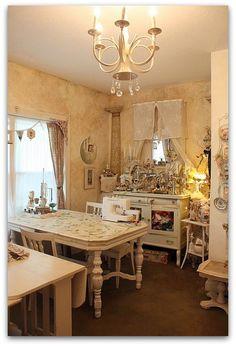 nice sewing room...