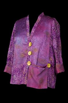Purple Rayon and Silk