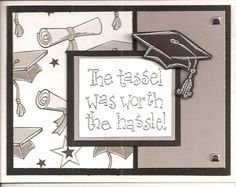 Grad Card by stamp bug - Cards and Paper Crafts at Splitcoaststampers Graduation Cards, Graduation Announcements, Graduation Ideas, Card Making Inspiration, Making Ideas, Cute Cards, Diy Cards, Teacher Cards, Embossed Cards