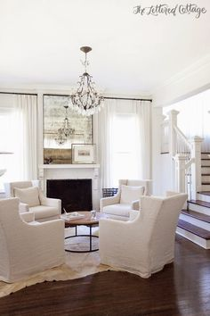 White and Beautiful Flooring. ༺༻ -  www.IrvineHomeBlog.com