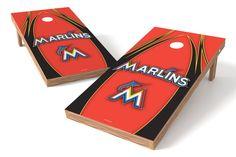 Miami Marlins Cornhole Board Set - The Edge