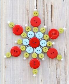Button Snowflake Ornament