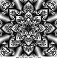 Abstract Fractals Black And Gold Linda Mann Hq Wallpaper 115555 Pictures Like Image, Fractals, Illustration, Mandala, Stock Photos, Black And White, Wallpaper, Floral, Gold