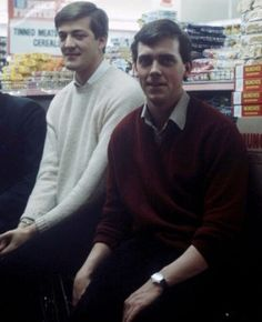 because they are so young here it is amazing. Stephen Fry and Hugh Laurie.