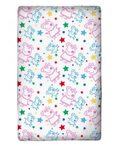 This Peppa Pig Pop Junior Toddler Fitted Sheet features Peppa and George Pig and will fit toddler size mattresses. Free UK delivery available