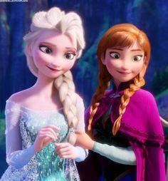 Frozen Elsa and Anna Frozen Disney, Frozen Art, Frozen And Tangled, Frozen Elsa And Anna, Elsa Anna, Frozen 2013, Elsa Olaf, Disney Girls, Disney Art