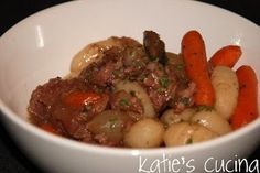 Beef Stew with Potato Dumplings   AllFreeSlowCookerRecipes.com
