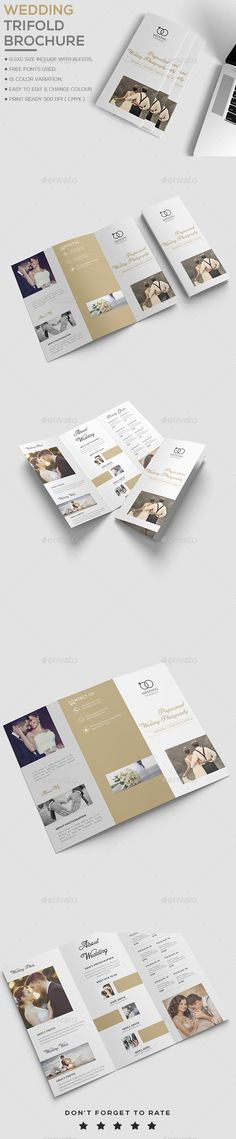 InDesign Square Trifold Wedding Brochure Template \u2022 Only available - wedding brochure template