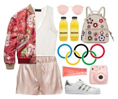 """Untitled #1038"" by meelstyle ❤ liked on Polyvore featuring adidas Originals, Ray-Ban, Fendi, Gucci, Oribe and Fuji"