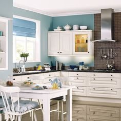 Painted L-shaped kitchen | L-shaped kitchen design ideas | Kitchen | PHOTO GALLERY | Beautiful Kitchens | Housetohome.co.uk