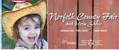Norfolk County Fair and Horse Show. A 7 day fall fair featuring agriculture and grandstand entertainment such as concerts and motorsport. Visit Barbados, Norfolk County, County Fair, Show Horses, Entertaining, Learning, Awards, October, Couple