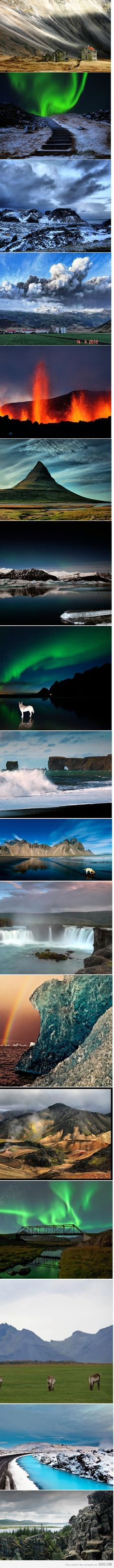Photographs from Iceland. See more here: http://www.northernlightsiceland.com/