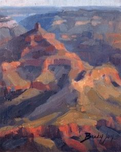 Grand Canyon Patterns, plein air painting, painting by artist Becky Joy