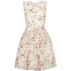 Red Valentino Floral Prom Dress (€845) ❤ liked on Polyvore featuring dresses, vestidos, short dresses, robes, mini prom dresses, mini dress, pink floral dress and floral prom dresses