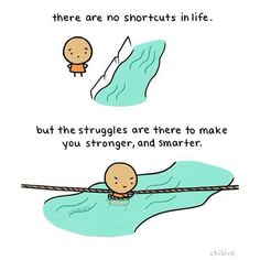 Get better.  Get stronger.  Thanks @chibirdblog for such a cute cartoon. #resilience #ownyourlife