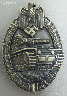 WW2 GERMAN ARMY PANZER ASSAULT BADGE, BRONZE  (Badges also awarded at the 25, 50, 75 and 100 levels)