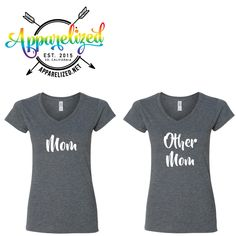 Mom and Other Mom Matching Shirts - Lesbian Parents - Two Moms are Better Than One - Gay Parents - Christmas Gifts - Holiday Shopping by Apparelized on Etsy https://www.etsy.com/listing/489810575/mom-and-other-mom-matching-shirts