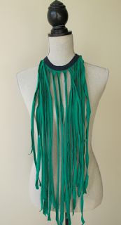 kandeej.com: DIY T-shirt Cutting Fringe Necklace