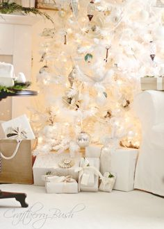 Craftberry Bush: The white Christmas tree....