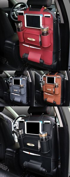 $15.99 Pu Leather Car Seat Storage Bag 5 Colors Travel Solid Hang Bag