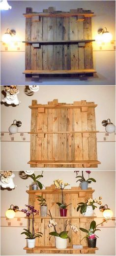 Placing a simple and innovative designed wood pallet wall shelf is ideal option for you when your house do occupy the place of the wall decoration. Check out this wood pallet wall shelf creation! It comprise with one shelf portion. The whole creation with mind-blowing impacts is visualized.
