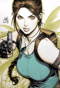 Lara Croft, by Stanley Lau Jill Valentine, Art Manga, Anime Art, Female Character Design, Character Art, Stanley Lau, Nico Robin, Marker Art, Video Game Art