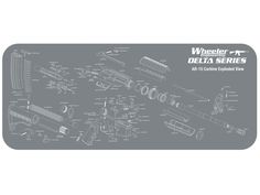 "Product detail of Wheeler Engineering Delta Series AR-15 Cleaning and Maintenance Mat 20"" x 47"""