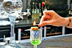 Absinth Cocktail for Bar Ritual Gatsby, Cruise, Cocktails, Friday, Candles, Bar, Craft Cocktails, Cruises, Cocktail
