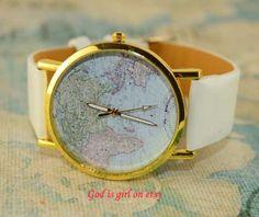 Multicolor optional world map digital casual watch by Godisgirl, $1.99