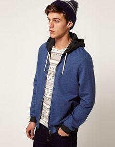 ASOS Hoodie With Contrast Pockets And Hood ($38.00) - Svpply