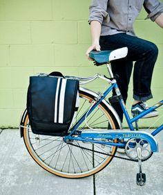Pannier Bike Bag - 'Bright Stripe'