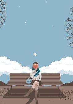 Se considerate triste vedere una persona che legge, seduta da sola su una panchina, vi state sbagliando.