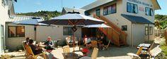 Kaiteri lodge - has conference venue, unsure how big Abel Tasman, Restaurant Bar, New Zealand, Conference, Road Trip, Patio, Warm, Big, Beach