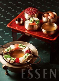 Individual table and cooking brazier    궁중음식연구원의 味談 - 두부전골