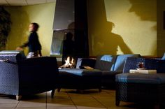 Lounge with fireplace at Inntel Hotels Resort Zutphen