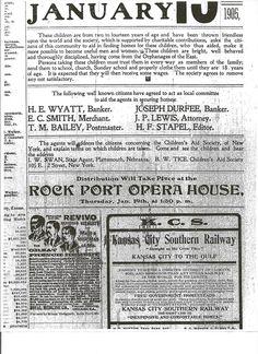Atchison County, Missouri: Orphan Train Children Ad Train Costume, Orphan Train, Innocence Lost, Happy Stories, Slums, Historical Fiction, World History, Creative Writing, Missouri