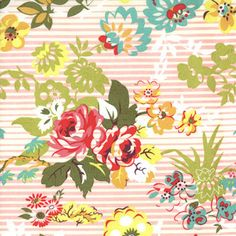 Floral blissful fabric by moda