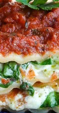Pasta night just got tastier thanks to this uber-delicious Pesto Veggie Manicotti! Pair it with homemade marinara and enjoy! Veg Recipes, Summer Recipes, Pasta Recipes, Dinner Recipes, Food Dishes, Main Dishes, Side Dishes, Italian Dishes, Italian Recipes