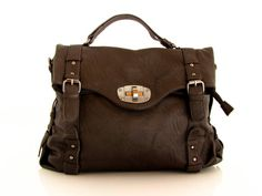vegan leather handbag messenger cofee brown   the by TRACCEbags, $119.00