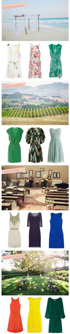 WEDDING GUEST DRESS GUIDE    Good to know for weddings of all seasons!