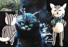 The Cheshire Cat The Cheshire, Baby Safe, Softies, Alice In Wonderland, Batman, Superhero, Cats, Handmade, Animals