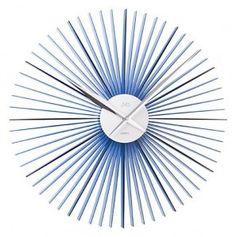 #Clock #JVD Plastikowy zegar ścienny HT96.3 - Jasněna Vláhová Design - niebieski