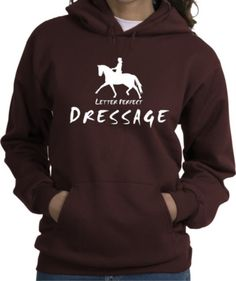 Dressage Letter Perfect Horse and Rider Brown Hooded Sweatshirt - Charlie Horse Apparel