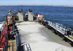 The U.S. Army Corps of Engineers conducted dredging operations at Barnegat Inlet in New Jersey earlier this month.