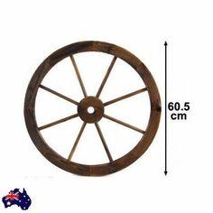 Outdoor Wagon Wheel Garden Wooden Decor Wall Feature Large Treated Fir Timber