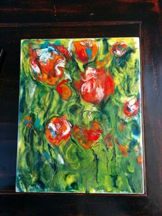 2016 Art Encaustic - Tulips . Painting Digital, Tulips, Fine Art, Whiskey, Studio, Whisky, Visual Arts, Study, Tulip