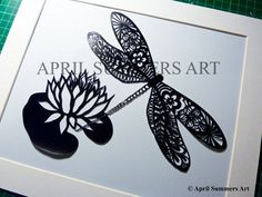 COMMERCIAL Mr Dragonfly DIY Papercutting File by AprilSummersArt, £12.50