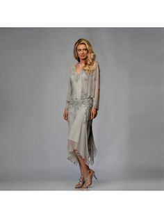 Long Sleeves Lace Chiffon Short Mother of The Bride Dresses 99503017