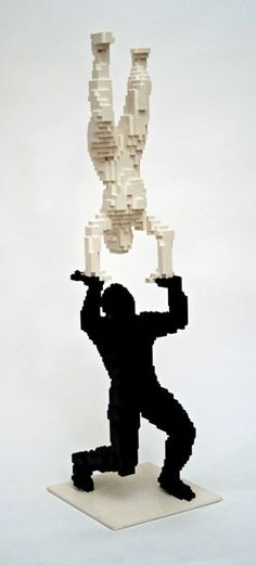 black and white figures in lego