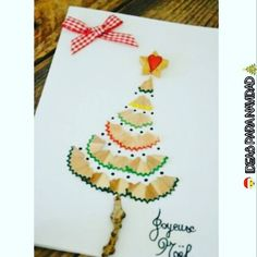 """35 Me gusta, 5 comentarios - 🎄 Amantes De La Navidad 🎅 (@ideas.para.navidad) en Instagram: """"Que les parece esta idea de una tarjetita para Santa o para regalar? 🎅🎄 ~ COMO HACER ~ · En un…"""""""